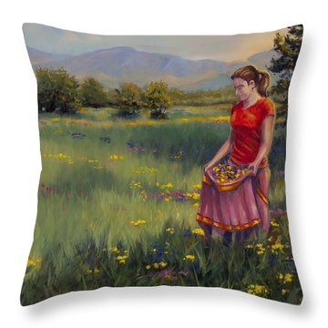 Summers Bounty Throw Pillow by Kurt Jacobson