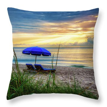 Throw Pillow featuring the photograph Summer's Calling by Debra and Dave Vanderlaan