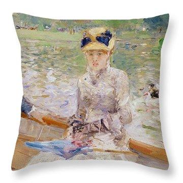 Summers Day Throw Pillow by Berthe Morisot