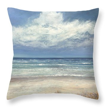 Summer's Day Throw Pillow by Valerie Travers