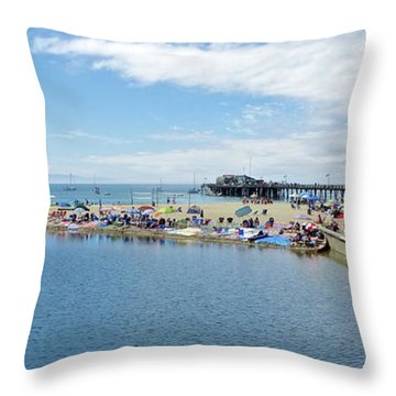 Summers End Capitola Beach Throw Pillow