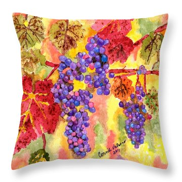 Summers Fullest Throw Pillow by Connie Valasco