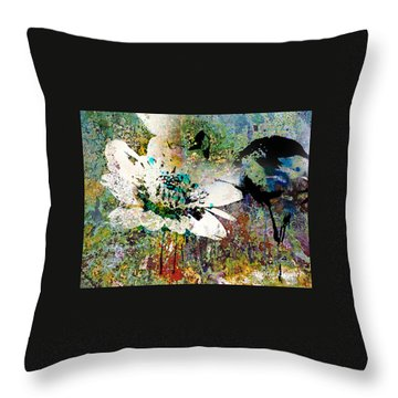 Summers Garden Throw Pillow by Angela Holmes