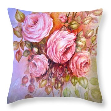 Summers Glory Throw Pillow by Patricia Schneider Mitchell