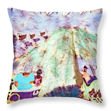 Summers On The Anacostia  Throw Pillow