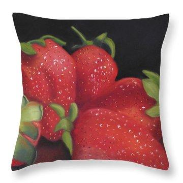 Summer's Red Gems Throw Pillow