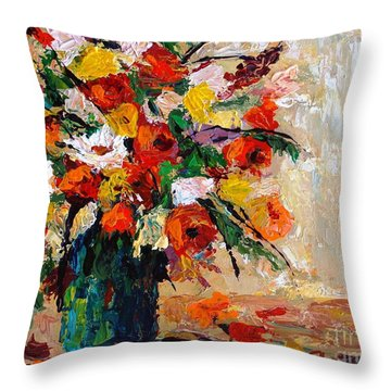 Summer's Riot Throw Pillow