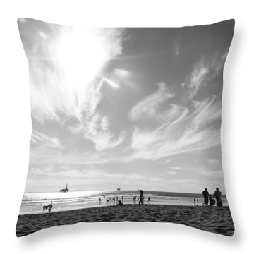 Summer's Sky Throw Pillow by Leah McPhail