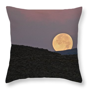 Summers Super Moon Throw Pillow