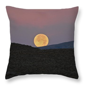 Summers Super Moon Two Throw Pillow