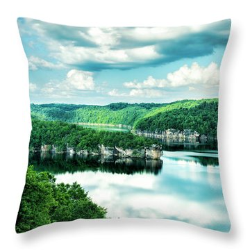 Summertime At Long Point Throw Pillow