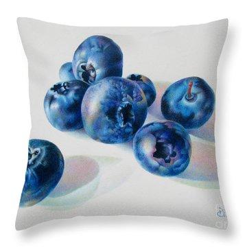 Summertime Blues Throw Pillow by Pamela Clements