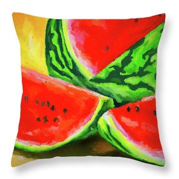 Summertime Delight Throw Pillow