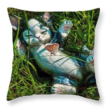 Summertime In My Garden Throw Pillow