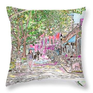 Summertime In Newburyport, Massachusetts Throw Pillow