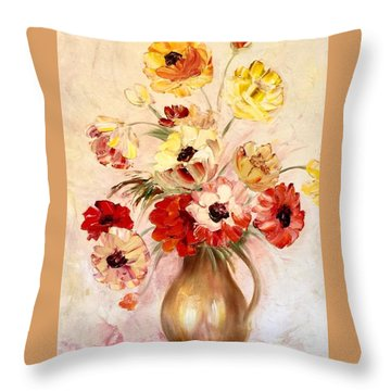 Summertime Joy Throw Pillow