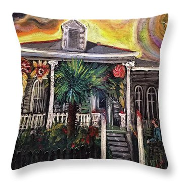 Summertime New Orleans Throw Pillow