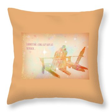 Throw Pillow featuring the photograph Summertime by Robin Regan