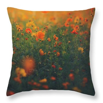 Throw Pillow featuring the photograph Summertime by Shane Holsclaw
