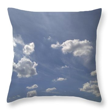 Summertime Sky Expanse Throw Pillow