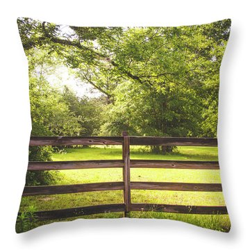 Throw Pillow featuring the photograph Summertime Sunshine by Shelby Young