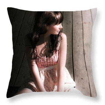Summertime Woman Throw Pillow