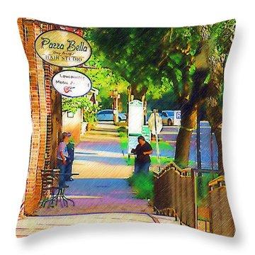 Summerville Sc Throw Pillow by Donna Bentley