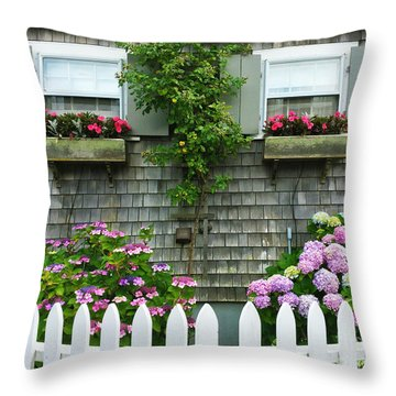 Summery Nantucket Throw Pillow