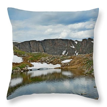Summit Lake In Summer Throw Pillow