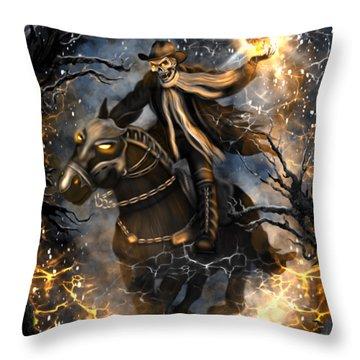 Summoned Skull Fantasy Art Throw Pillow
