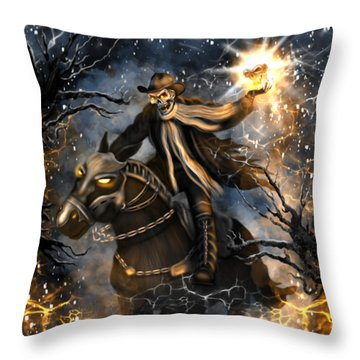 Summoned Skull Fantasy Art Throw Pillow