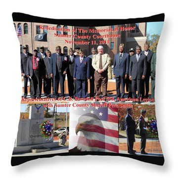 Sumter County Memorial Of Honor Throw Pillow