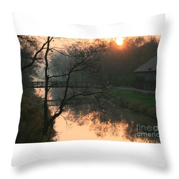 Sun Above The Trees Throw Pillow