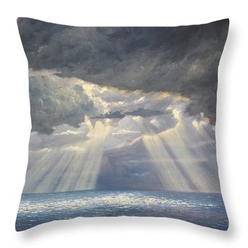 Storm Subsides Throw Pillow