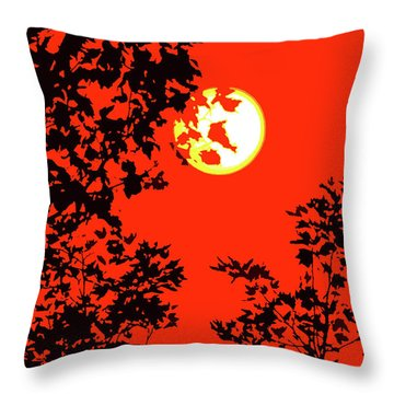Sun And Branches Throw Pillow