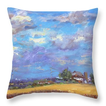 Sun And Clouds Georgetown  Throw Pillow