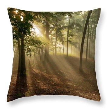 Sun And Clouds Throw Pillow
