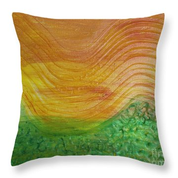 Sun And Grass In Harmony Throw Pillow