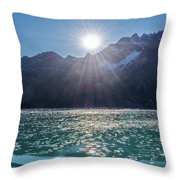 Sunshine And Ice Throw Pillow