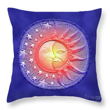 Sun And Moon - Day And Night Throw Pillow