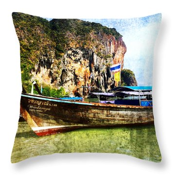 Sun And Sand Throw Pillow