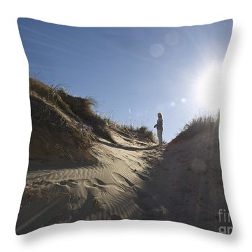 Throw Pillow featuring the photograph Sun And Sand  by Tara Lynn