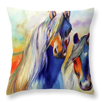 Sun And Shadow Equine Abstract Throw Pillow