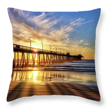 Sun And Shadows Throw Pillow