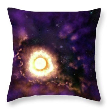 Sun And Space Throw Pillow
