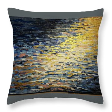 Sun And Wind On Water Throw Pillow