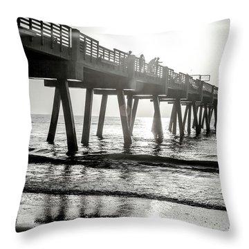 Throw Pillow featuring the photograph Sun Bathe by Eric Christopher Jackson