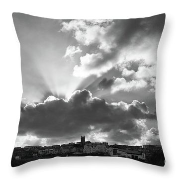Throw Pillow featuring the photograph Sun Beams Over Church by Nicholas Burningham