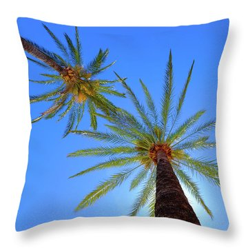 Sun Bed View Throw Pillow