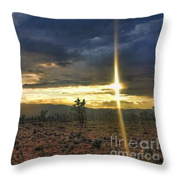 Sun Blade Throw Pillow